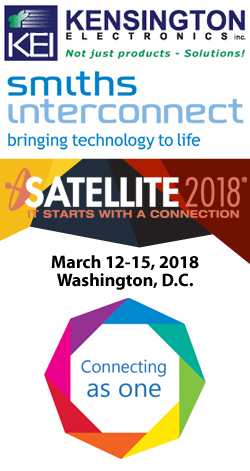 Smiths Interconnect to exhibit at Satellite 2018 - March 12-15, 2018 - Washington, D.C.