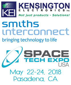Smiths Interconnect to exhibit at Space Tech Expo, May 22-24, 2018, Pasadena, CA